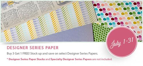 FREE Designer Paper from Stampin' Up!
