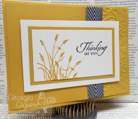 Handmade Masculine card using Wetlands stamp set
