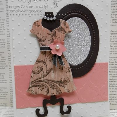 Handmade cards using Dress Up and Secret Garden Framelits