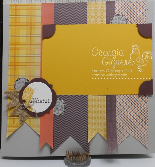 Fall Scrapbook Layout Idea using Truly Grateful Stamp set
