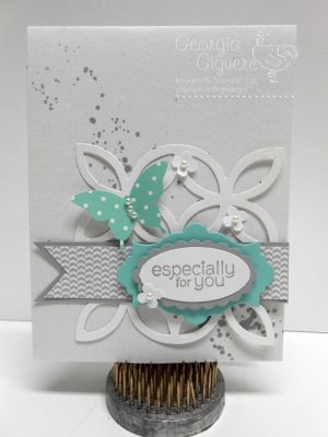 Gorgeous Grunge . . . How descriptive of this handmade card!