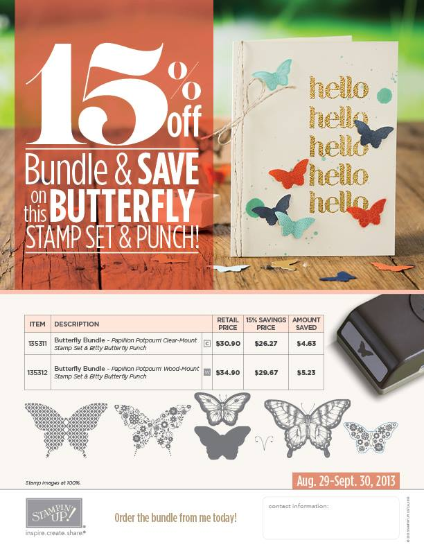 My Favorite Butterfly Stamps on Sale!