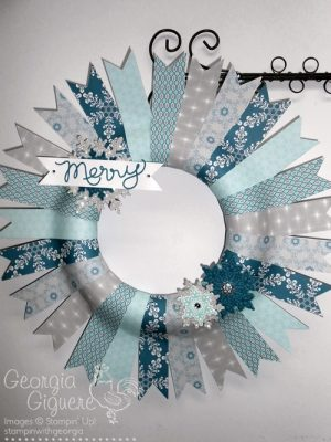 Make a Holiday Wreath using Winterfrost Designer Paper!