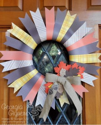 DIY Fall Wreath Idea with Sweater Weather Designer Paper