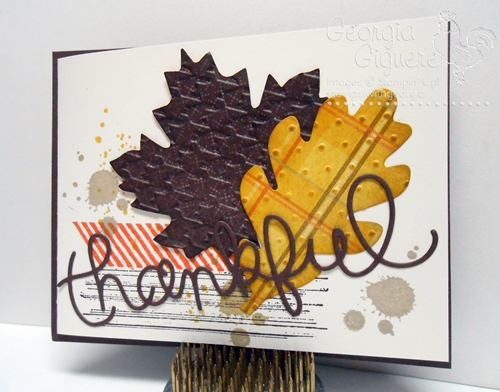 Thankful Card with Gorgeous Grunge & Expressions Thinlits Dies