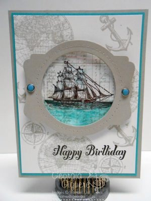 Masculine Card with Open Seas stamp set
