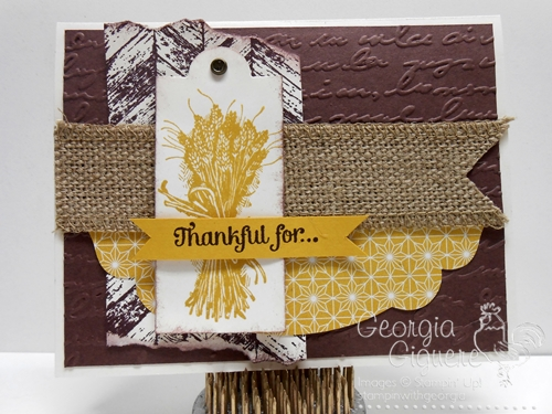 Thanksgiving Card Idea using Truly Grateful Stamp Set