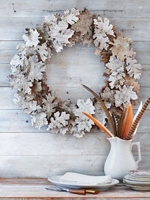 DIY Birch Bark Wreath using Autumn Accents Die!