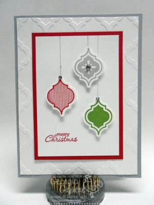 DIY Mosaic Ornament Christmas Card plus a Sneak Peek!