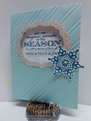 Prince of Peace Christmas Card Idea featuring Deco Labels Framelits