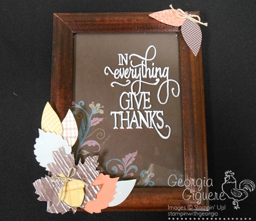 DIY Decor using White Stampin' Chalk Marker on Glass!