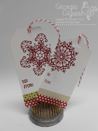 Easy DIY Gift Tags with NEW Tag Topper Punches plus Yummy Treat Recipes