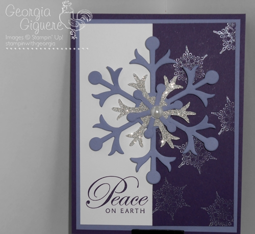 Northern Flurry Purple Card