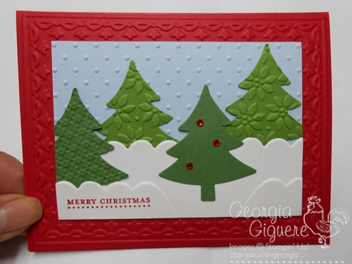 Simple Holiday Cards using the Big Shot!