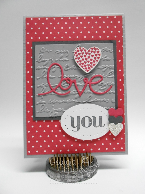 """Handmade Valentine says """"Love"""" with Expressions Thinlits Dies!"""