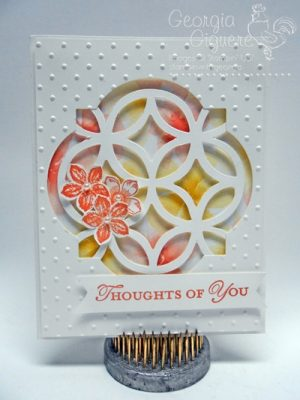 Elegant Yet Easy Card Using the Lattice Die and Window Frames