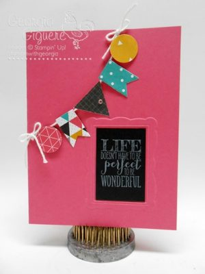 Inspired by Framed Art . . . Handmade Card with Perfect Pennants