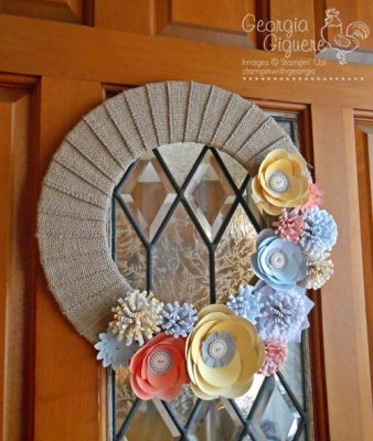 DIY Spring Wreath with Burlap and Blooms Kit
