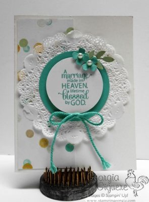 So Easy, So Cute Wedding Card Features Blessed by God Stamps