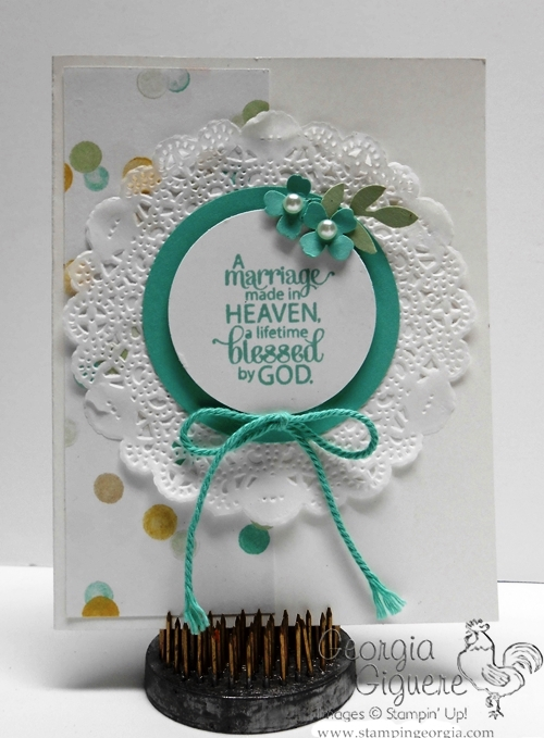 So Easy So Cute Wedding Card Features Blessed by God Stamps