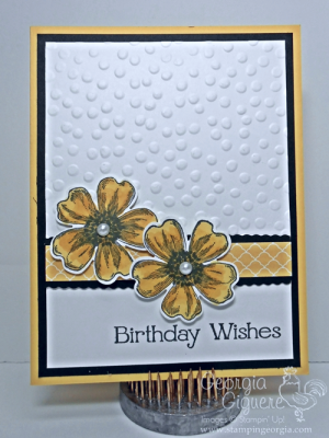 Versatile Handmade Card with Flower Shop and Four You Stamps
