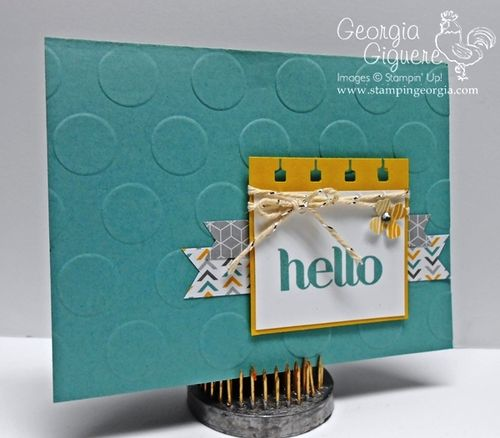 Say hello with this adorable handstamped card stampin with georgia four you card m4hsunfo