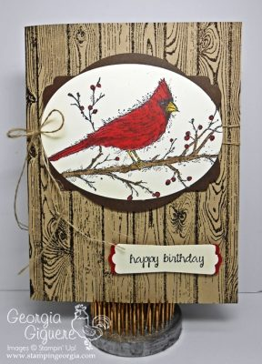Get Mileage from Your Holiday Stamps. . . A Masculine Birthday Card!