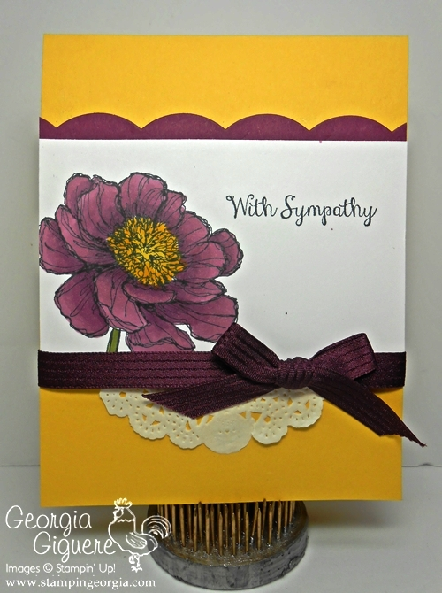 Bloom with Hope Sympathy Card