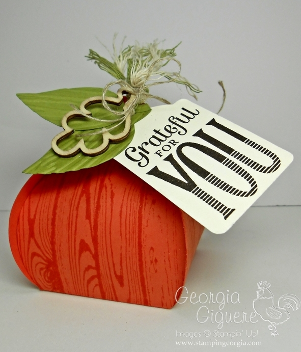 Adorable Pumpkin Treat Box with Stampin' Up!'s Curvy Keepsake Box Thinlit
