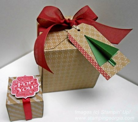 DIY Boxes with Stampin' Up!'s Gift Box Punch Board = Adorable!