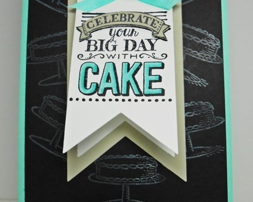 A Fun Shaped Card Birthday Card with Banner Framelits and Big Day Stamps!
