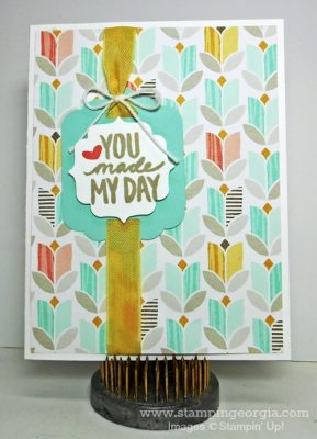 "Tell Someone ""You Made My Day!"" With A Handstamped Card"