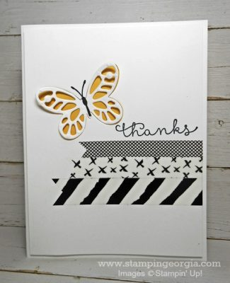 Stunning Results With Watercolor Wings Bundle & Everyday Chic Washi Tape!