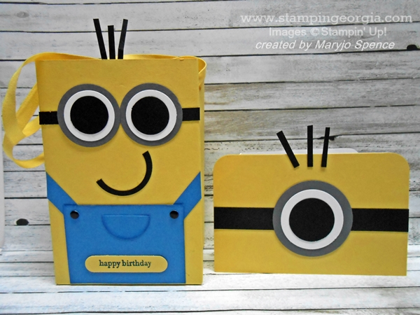 Make This Adorable Minion Gift Bag And Pop Up Card