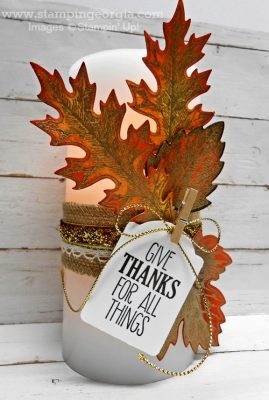 Quick & Easy DIY Fall Candle Decor with Vintage Leaves Bundle