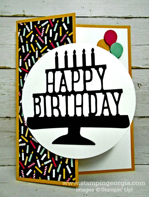DIY Birthday Card Featuring the NEW PopUp Thinlits Dies Stampin