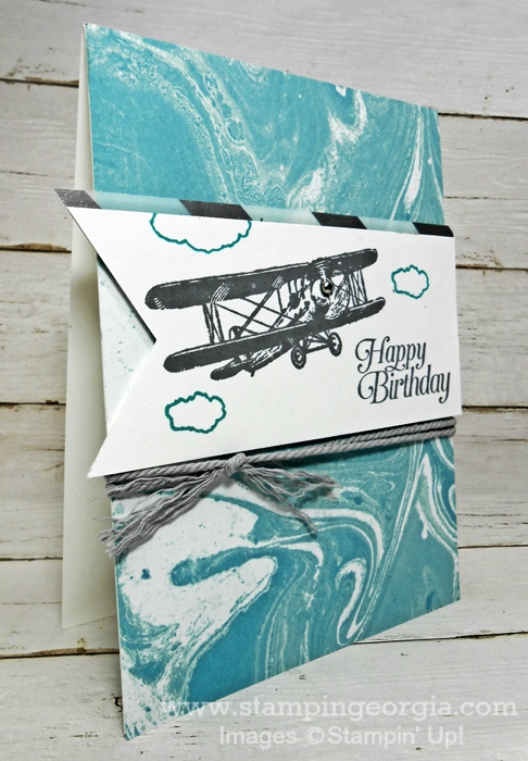Masculine Birthday Card With Sky Is The Limit Stamp Set Stampin