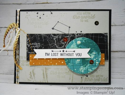 Masculine Card Idea with Going Global stamps!