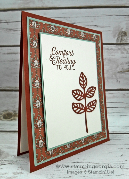 Send comfort with a flourishing phrases card stampin with ff card side m4hsunfo