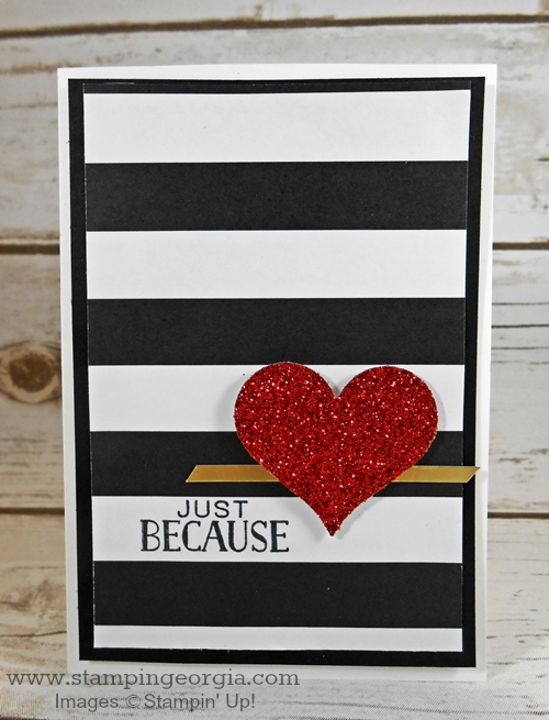 An Easy Diy Valentine Card That Sparkles Stampin With Georgia