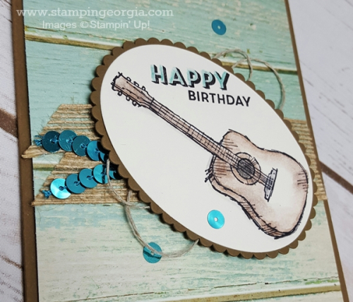 Country Livin' Bday Card Flat