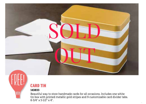 Sold Out Tins