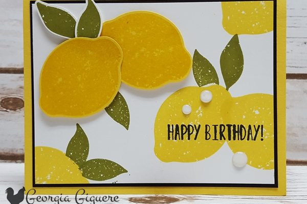 Add Zest To Your Cards . . . Lemon Zest That Is!