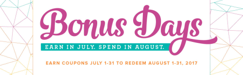 July 2017 Bonus Days