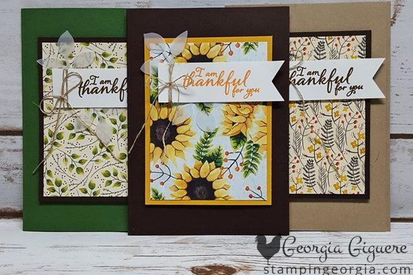 Simple Painted Autumn Thank You Cards