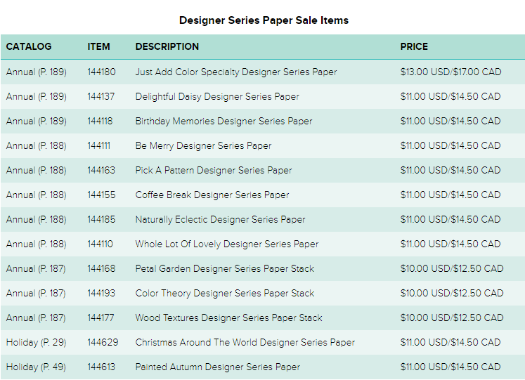 Time to stock up on pretty paper! Back by popular demand, an incredible offer on paper. . . . Buy three packages of select Designer Series Paper and get one FREE during October! Shop Oct 1-31 @ www.georgia.stampinup.net