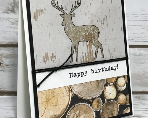Quick Masculine Card with the Merry Patterns Stamp Set!