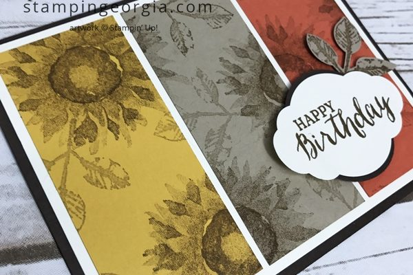 Split Panel Stamping with Painted Harvest