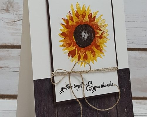 Clean & Simple Thank You With Painted Harvest