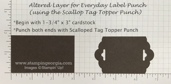Tip for creating a special layering mat for the Everyday Label Punch using the Scalloped Tag Topper Punch